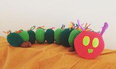 He's proving to be quite popular!  #diy #handmade #giftideas #gift #averyhungrycaterpillar #caterpillar #crocheted #custommade #crochet #crochetcreations #crochetersofinstagram #yarn by crochetcreations420
