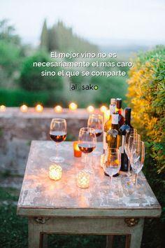 El mejor vino es el que se comparte #vinos #vino #frases #quotes