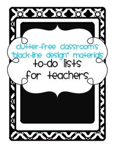TEACHER TO DO LISTS {8 different templates}