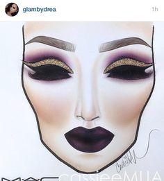 Fashion illustration makeup face charts for 2019 Makeup Goals, Makeup Inspo, Makeup Inspiration, Makeup Ideas, Mac Makeup, Beauty Makeup, Egyptian Makeup, Arabic Makeup, Indian Makeup