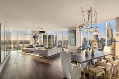 Live in the Lap of Luxury in These Expansive New York Apartments, Luxury NYC apartment tour – open space living. New York Apartments, Luxury Apartments, Nyc Apartment Luxury, Elegant Home Decor, Elegant Homes, Apartamento New York, Luxury Penthouse, French Country Living Room, Mansion Interior