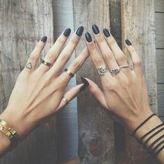 Matte Black Nails | Hair and Beauty