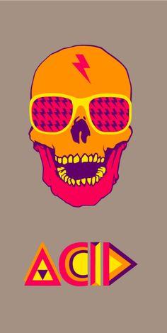 Skull,illustration,street art,graffit