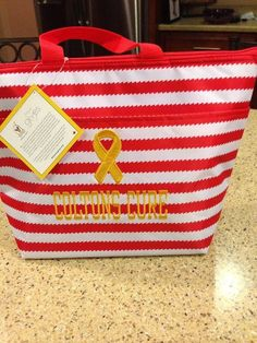 Thirty one red wave RMH Charities thermal tote.