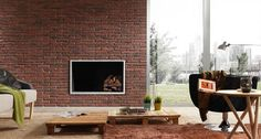 Ladrillo Adobe Panel - Feature Panels -Brick effect wall Panels Adobe, Brick Paneling, Dream Wall, Decorative Panels, Wall Design, Interior Design, Chair, Furniture, Home Decor