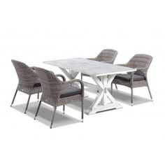 Vogue  165 x 90 table with Essex  Chairs  - 5pc Outdoor Setting