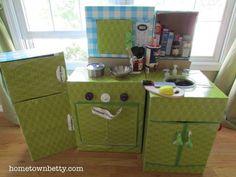 SEMI-TUTORIAL: Making a Cardboard Kid-Size Play Kitchen