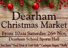 Dearham Christmas Market http://www.cumbriacrack.com/wp-content/uploads/2016/11/FB_IMG_1479155885430.jpg Great local food, drink, gifts and craft businesses showcasing and selling their products. Pop along for a mince pie, mulled wine and listen to some festive tunes sung by the Castlegate Singers while browsing the goodies on offer.    http://www.cumbriacrack.com/2016/11/24/dearham-christmas-market/