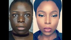 Skin finish foundation routine for hyperpigmentation on dark skin - black hair & skin Flawless Makeup, Glam Makeup, Makeup Tips, Flawless Skin, Makeup Ideas, Mac Foundation, Foundation Routine, Flawless Foundation, Acne Makeup