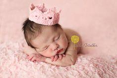 Custom Crochet Crown Tiara Photo Prop  Newborn  by puzo2352,
