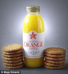 PRET FRESHLY SQUEEZED ORANGE JUICE (500ml) Pret's orange juice contains as much sugar as 13 McVities Hobnob biscuits 229 calories 0.6g fat 51g Sugar