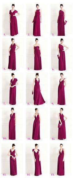 Maxi length multi way dress