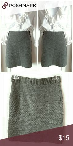 🌟New Arrival🌟 Moda International Heather Gray Knit Mini  Moda International sold by Victoria's Secret Pairs great with any style legging and over the neck boot styles 👢👢👢 Moda International Skirts Mini