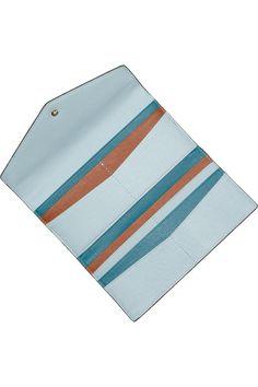 MICHAEL MICHAEL KORS  Color-block textured-leather wallet