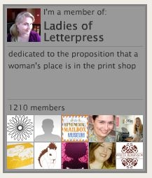 Ladies of Letterpress - a great group of women working the iron giants.