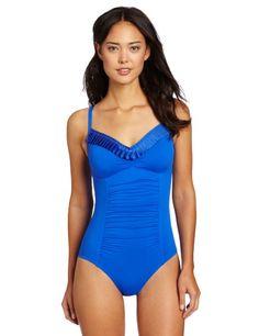 Seafolly Women's Goddess Swimsuit #Blue_Swimsuit