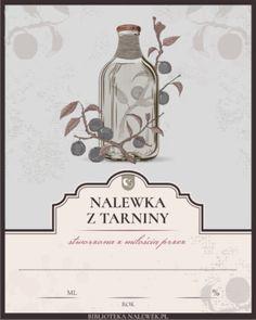 Etykieta do Nalewka tarninowa