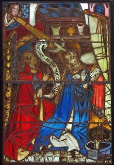 Pannello Annunciazione della Boppard Vita di Cristo e la finestra della Vergine. Progetto Boppard Conservation - Glasgow Museums