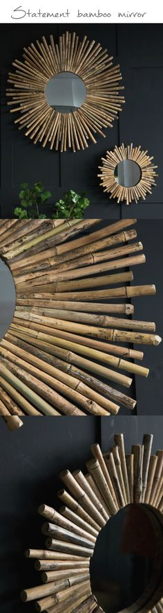 This would make such a talking piece in the hallway - it's beautiful! #bamboo #mirror #homedecor #interiordecor