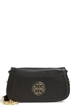 Tory Burch 'Amanda' Logo Flap Clutch available at #Nordstrom