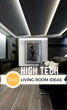 High Tech Interior Design is a modern design trend with focus on cutting-edge technology, straight lines, clear geometric shapes and futuristic furniture. Iot Smart Home, Smart Home Design, Modern Interior Design, Interior Design Living Room, Home Tech, Tech House, Living Room Gadgets, Living Rooms, Estilo High Tech
