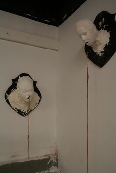 creepy wall plaques, it would be cool if it was coming from the eys