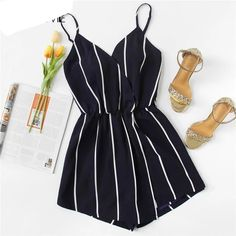SheIn offers Vertical Striped Cami Romper more to fit yo&; SheIn offers Vertical Striped Cami Romper more to fit yo&; Didi Scholty didischolty […] for teens shorts Rompers For Teens, Cute Rompers, Rompers Women, Jumpsuits For Women, Jumpsuits Uk, Girls Fashion Clothes, Teen Fashion Outfits, Outfits For Teens, Girl Clothing