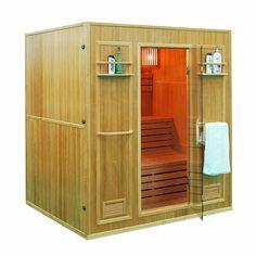 Aleko 4 Person Canadian Red Cedar Wood Indoor Wet Dry Sauna with kW ETL Electrical Heater Sauna Heater, Dry Sauna, Steam Sauna, Canadian Hemlock, Tall Cabinet Storage, Locker Storage, Indoor Sauna, Traditional Saunas, Red Cedar Wood