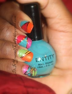 Color Blocking Mani plus striping tape.