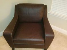Baltimore: Brown Leather Couch and Chair $500 - http://furnishlyst.com/listings/913243