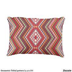 Geometric Tribal pattern Outdoor Pillow