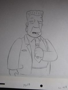 The Simpsons Animation Production Cel Original Drawing GG | eBay