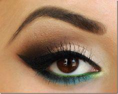 Trying this eye make-up look soon! Cat Eye Makeup, Makeup Geek, Love Makeup, Beauty Makeup, Makeup Looks, Hair Makeup, Hair Beauty, Dress Makeup, Makeup Eyeshadow