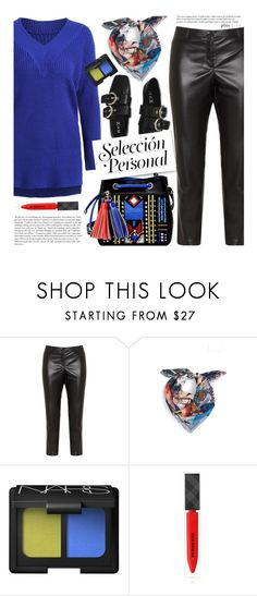 """Untitled #3705"" by beebeely-look ❤ liked on Polyvore featuring Elena Mirò, Christian Lacroix, Cullen, NARS Cosmetics, Burberry, StreetStyle, sammydress, plussize, curvy and plussizefashion"