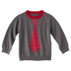 Cherokee® Infant Toddler Boys' Tie Crew Neck Pullover Sweater