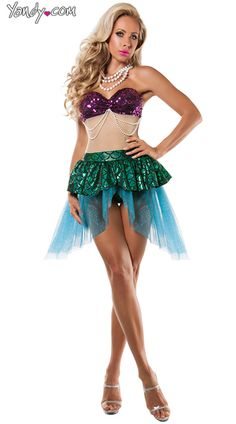 Sea Seductress Mermaid Costume