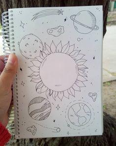 Art Sketchbook Ideas Drawings Doodles – Art World 20 Space Drawings, Mini Drawings, Sketchbook Drawings, Cool Art Drawings, Pencil Art Drawings, Doodle Drawings, Easy Drawings, Doodle Art, Drawing Sketches