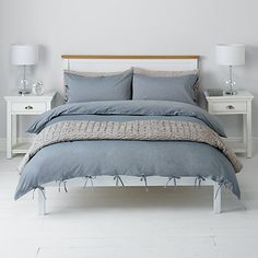 Buy John Lewis Chambray Ties Duvet Cover and Pillowcase Set, Blue Online at johnlewis.com