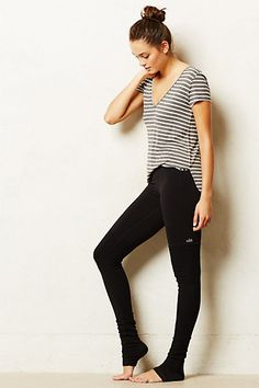 Ribbed Performance Leggings by Alo. Perfect for negotiating some yoga on-the-go in your work day