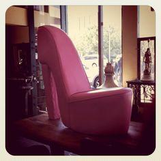 High heel chair on pinterest pink high heels high heels and chairs
