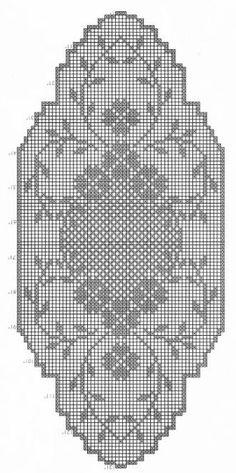 World crochet: Tablecloth 4 Filet Crochet Charts, Crochet Cross, Crochet Art, Crochet Home, Crochet Flower, Crochet Table Runner Pattern, Crochet Doily Patterns, Crochet Motif, Crochet Doilies