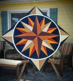 Gardiner's Gate Barn Quilts 4' Mariners Compass