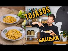 A perfekt TOJÁSOS GALUSKA fejes salátával - YouTube Okra, Pasta Recipes, Macaroni And Cheese, Cereal, Breakfast, Ethnic Recipes, Food, Street, Kitchen