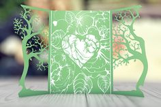 Check out Gatefold Floral Wedding Invitation by FlatlineRo on Creative Market