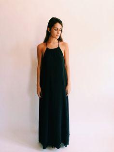 Silk & Cotton Maxi Slip Dress // Megan Huntz x Na Nin