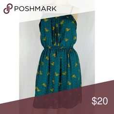 MOSSIMO SUPPLY CO TEAL DRESS. LARGE Super cute retro inspired teal dress with yellow flowers. Large. Brand new without tags. Mossimo Supply Co Dresses