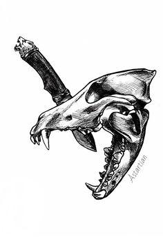 #astartian #art #Werewolf #skull #sketch #traditonal