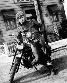 Marlon Brando in The Wild One. The Wild One is a 1953 outlaw biker film directed by László Benedek and produced by Stanley Kramer. It is famed for Marlon Brando's iconic portrayal of the gang leader Johnny Strabler.