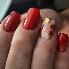 Transfer Foil Nail Art #nailart