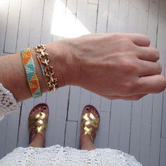 Summer colors (nouveau jonc bientôt en ligne) #ootd #jotd #cocoroca #colors #instamood #instacolors #summer #sun #lace #fashion #mode #bijoux #bracelet #jewels #jewelry